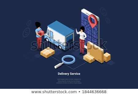 3d man holding big globe concept Stock photo © nithin_abraham