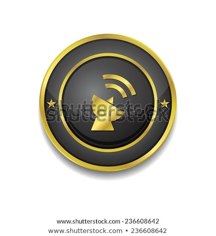 satellite dish sign golden vector icon design stock photo © rizwanali3d