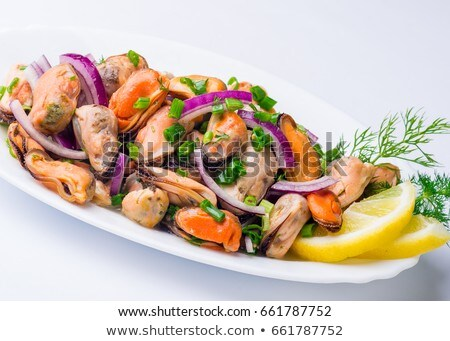 Salmon and mussel salad  Stock photo © Digifoodstock