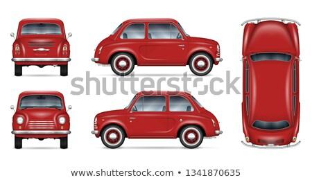 Red back door of a retro car. Stock photo © kyolshin