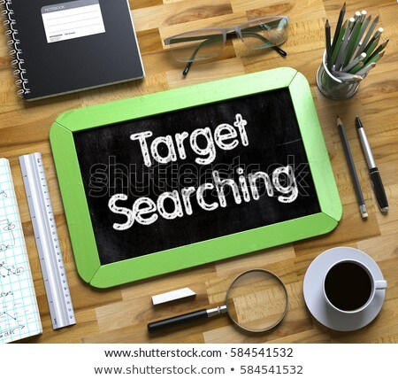 Small Chalkboard with Target Searching Concept. 3D. Stock photo © tashatuvango