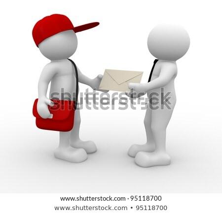 3D Man Mail kézbesítés Stock fotó © CoraMax