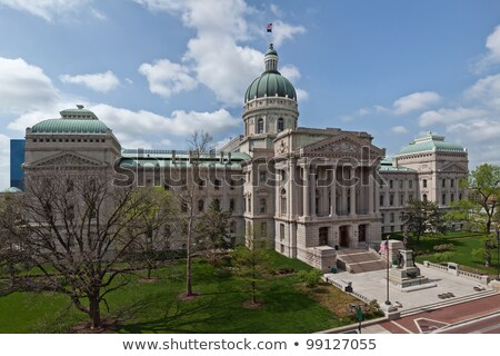 Columns of historic building in Indianapolis Stock photo © benkrut