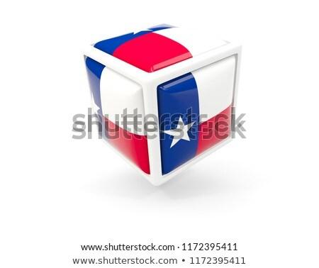 zászló · kocka · ikon · izolált · fehér - stock fotó © mikhailmishchenko