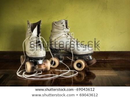 pair of retro antique skates stock photo © boggy