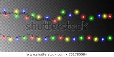 Christmas lights seamless border Stock photo © liolle