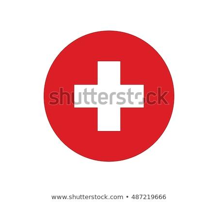 флаг Швейцария икона иллюстрация дизайна фон Сток-фото © colematt