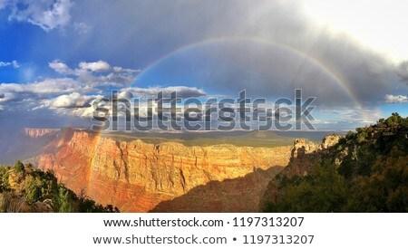 Tęczy malowany wzgórza piękna Oregon niebo Zdjęcia stock © craig