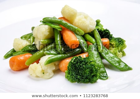 Friss zöld organikus brokkoli fehér tál Stock fotó © marylooo