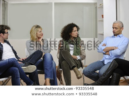 Multi-ethnic People Sitting In Circle Counseling Stock photo © AndreyPopov