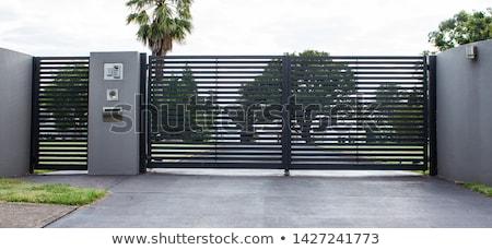 ゲート · 鉄 · デザイン · 金属 · 黒 - ストックフォト © netkov1