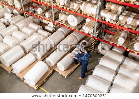 ストックフォト: 2 · 労働 · 決定 · 新しい · 生産