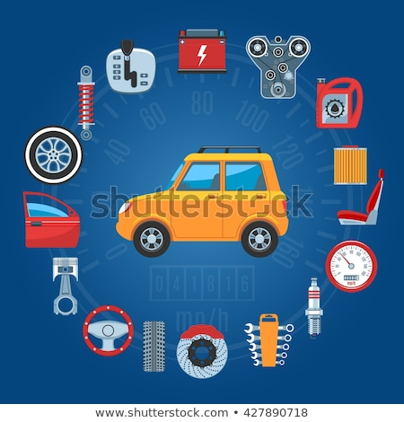 vetor · carro · roda · disco · freio · isolado - foto stock © dashadima