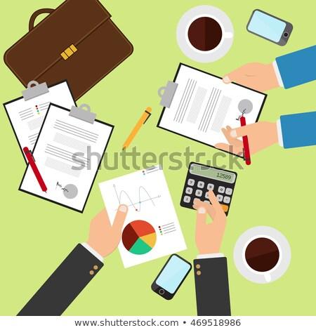 Organización de trabajo proceso lugar de trabajo sitio web vector Foto stock © robuart