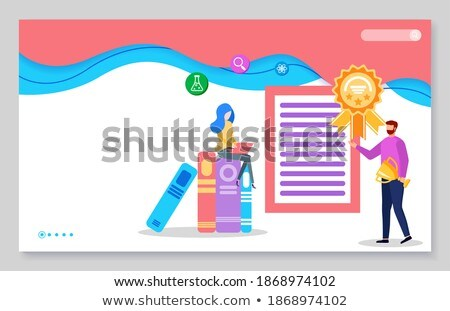 Işadamı kitap bilgi çevrimiçi web sayfa Stok fotoğraf © robuart
