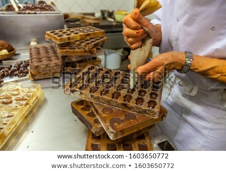 チョコレート 生産 料理 人 充填 ストックフォト © dolgachov