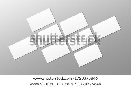Carte de visite perspectives vue 3d illustration stylo à encre communication Photo stock © olivier_le_moal