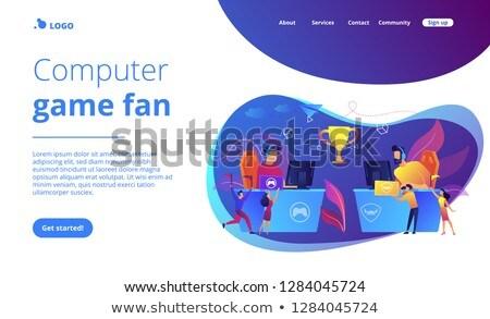 Toernooi app interface sjabloon professionele tabel Stockfoto © RAStudio