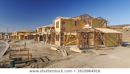 New Homes Framing Being Built Construction Site Stock photo © feverpitch
