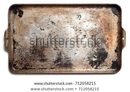 Oude oven dienblad bodem creatieve Stockfoto © artjazz