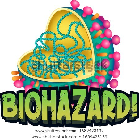 Font design for word biohazard with coronavirus cell Stock photo © bluering