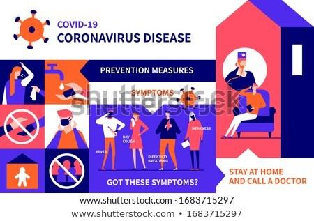 Quarantine advice - colorful flat design style illustration Stock photo © Decorwithme