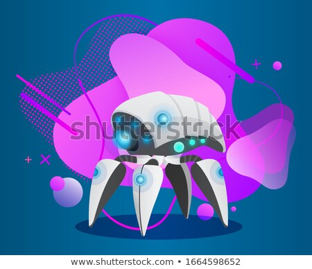 Robotic Creature for Work, Bot with Legs Vector Stock photo © robuart