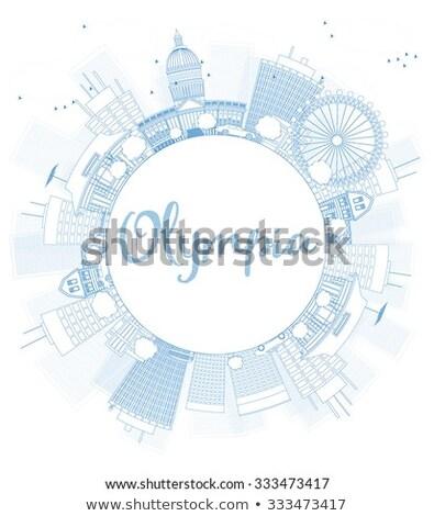 Washington horizonte azul edificios Foto stock © ShustrikS