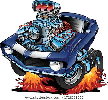 EUA clásico muscle car orgullo Cartoon aislado Foto stock © jeff_hobrath