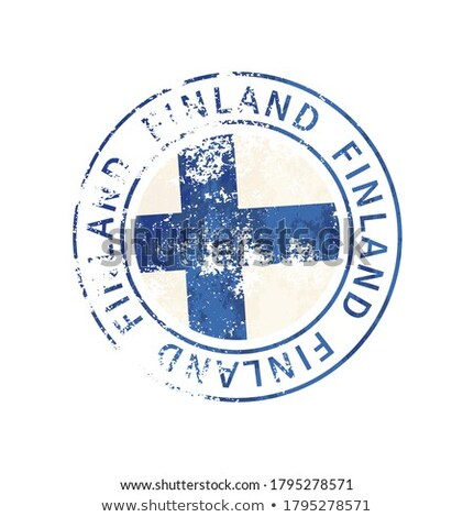 Finland sign, vintage grunge imprint with flag on white Stock photo © evgeny89