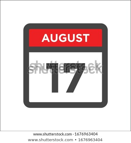 Simple black calendar icon with 17 august date isolated on white Stock photo © evgeny89