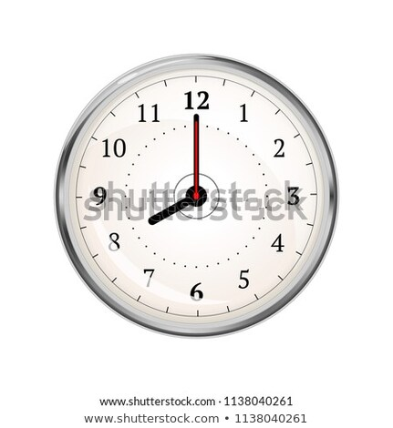 Realistic clock face showing 08-00 on white Stock photo © evgeny89