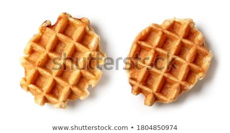 Delicious belgian waffles isolated on white Stock photo © karandaev