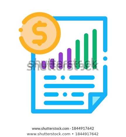 monetary statement document icon vector outline illustration Stock photo © pikepicture