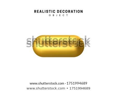 Gold or Bronze Metal Capsule Shape. Stock photo © tashatuvango