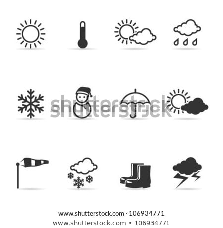 Nuvem sol ícone tempo isolado Foto stock © Imaagio