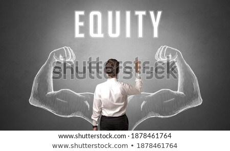 Achteraanzicht zakenman business inzicht opschrift achtergrond Stockfoto © ra2studio
