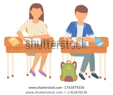 Classmates Writing Composition in Notebooks School Stock photo © robuart