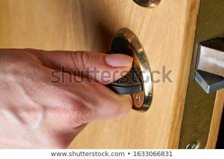 Trancar branco negócio porta metal segurança Foto stock © rbouwman