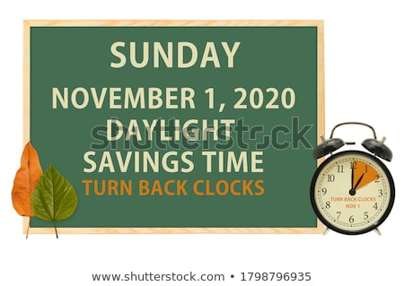 Daglicht besparing tijd teken winter horloge Stockfoto © experimental