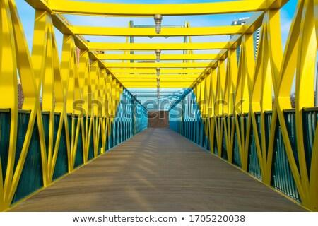 Metal most niebo niebieski stali panorama Zdjęcia stock © simas2