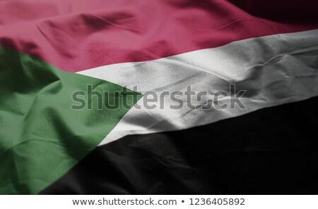 Szövet textúra zászló Szudán kék íj Stock fotó © maxmitzu