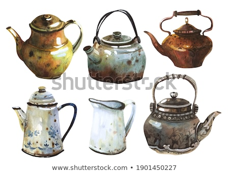 Clay Jug and Silverware Stock photo © manfredxy