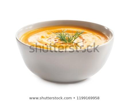 Tál leves paradicsomleves sajt piros főzés Stock fotó © taden