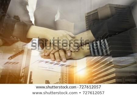 socios · dos · hombre · mujer · equipo · negocios - foto stock © Kurhan