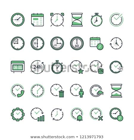 Calendario cronógrafo icono verde flecha tiempo Foto stock © tashatuvango