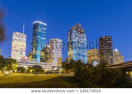 Houston · şehir · merkezinde · gün · batımı · gökdelenler · Teksas · modern - stok fotoğraf © meinzahn