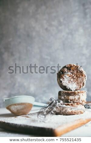 Kestane un kek turuncu biberiye tipik Stok fotoğraf © marcoguidiph
