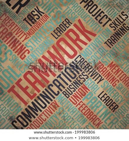 leadership concept   grunge wordcloud stock photo © tashatuvango