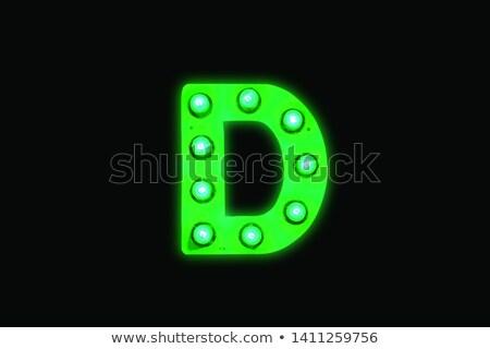 neon · letter · d · geïsoleerd · zwarte · alle · alfabet - stockfoto © RAStudio